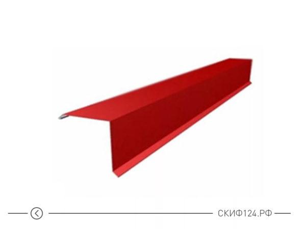 Планка торцевая для крыши дома из металлочерепицы