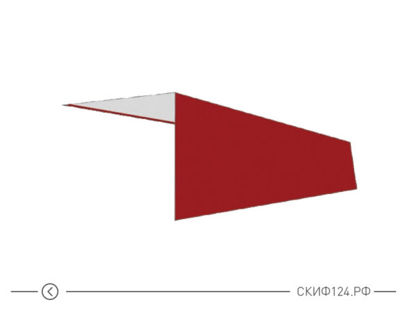 Планка наружного угла для установки на крыше частного дома