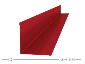 Планка внутреннего угла для установки на крыше частного дома
