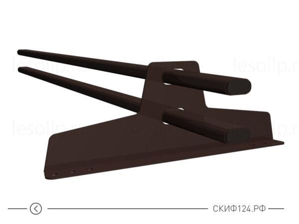 Снегозадержатель трубчатый D-Bork 45x25 для крыши из профлиста и металлочерепицы