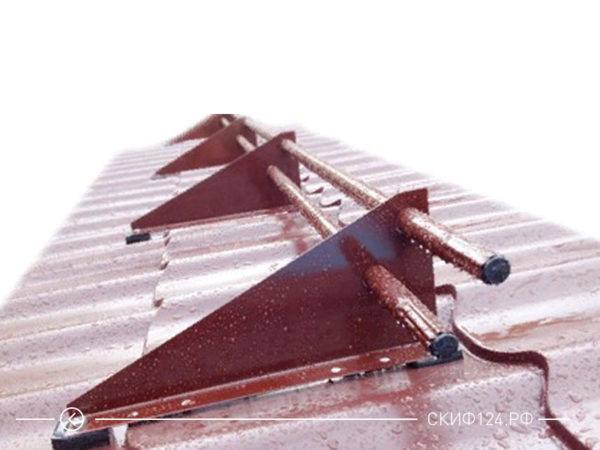 Снегозадержатель Русь D25M для крыши из профнастила для защиты от снега