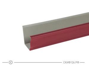 Прямоугольный желоб водосточный 120x3000 для водосточной системы Модерн