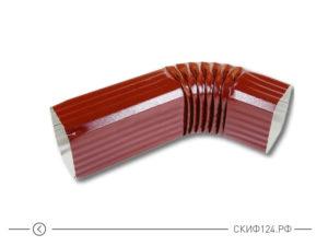 Колено трубы D76x102 (60 градусов) для прямоугольного водостока МП Модерн