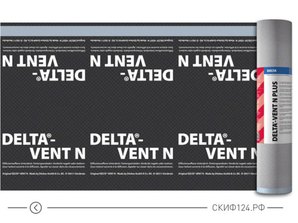 Диффузионная пленка DELTA-VENT N для а=защиты кровли от влаги и конденсата