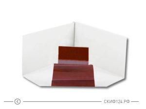 Угол желоба внутренний D120x86 (90 градусов) для водосточной системы Модерн