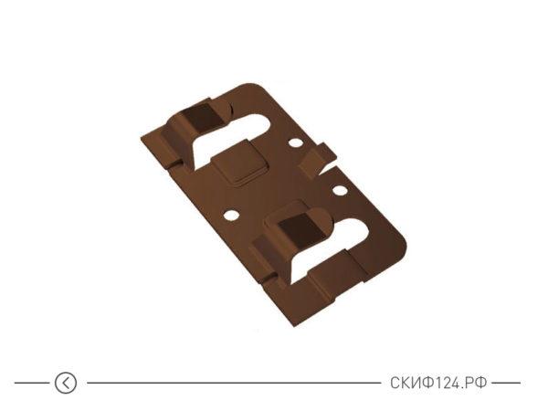 крепежный клямер завершающий с дистанциром для вентилируемого фасада
