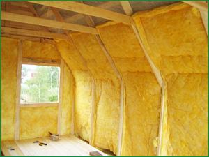 Полностью утепленный дом при помощи современного утеплителя