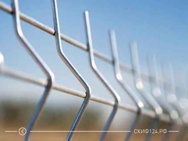 Внешний вид металлического ограждения Gardis Fit 3D