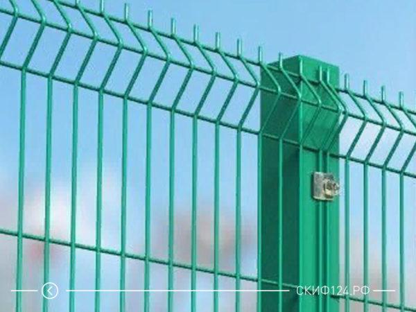 Металлическое ограждение с полимером для частного дома