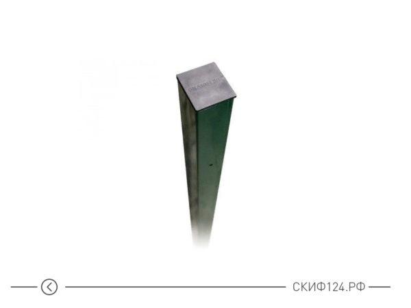 Столб для металлического забора с 4 отверстиями