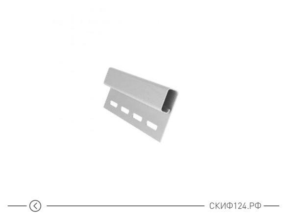 Финишный профиль для сайдинга Гранд Лайн белого цвета
