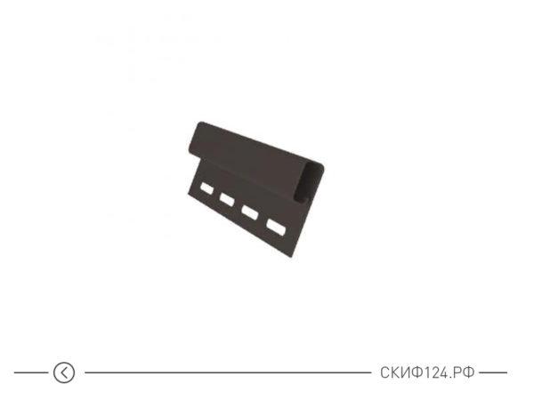 Финишный профиль для сайдинга Гранд Лайн коричневого цвета