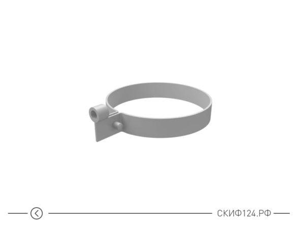 Пластиковый хомут трубы для водостока Grand Line из ПВХ, цвет белый