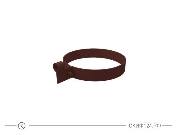 Пластиковый хомут трубы для водостока Grand Line из ПВХ, цвет шоколадный
