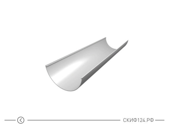Желоб водосточный ПВХ для водостока Grand Line, цвет белый
