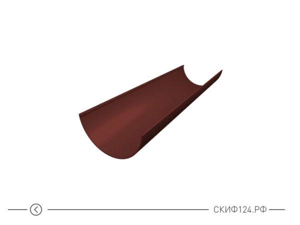 Желоб водосточный ПВХ для водостока Grand Line, цвет шоколадный