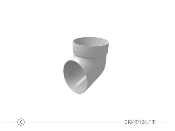 Колено сливное из ПВХ для водосточной системы Гранд Лайн, цвет белый