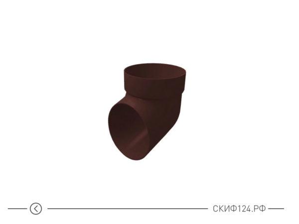Колено сливное из ПВХ для водосточной системы Гранд Лайн, цвет шоколадный