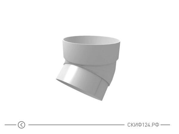 Колено трубы из ПВХ для водосточной системы Гранд Лайн, цвет белый
