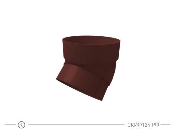 Колено трубы из ПВХ для водосточной системы Гранд Лайн, цвет шоколадный