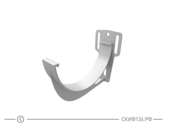 Кронштейн желоба из ПВХ для водостока Гранд Лайн, цвет белый