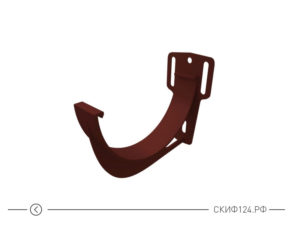 Кронштейн желоба из ПВХ для водостока Гранд Лайн, цвет шоколадный