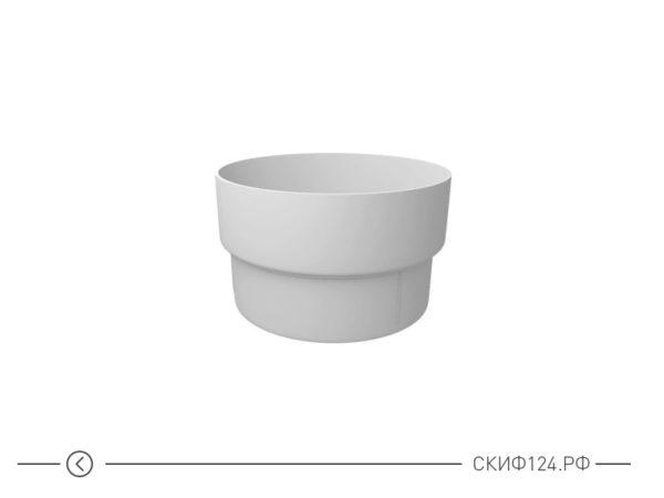 Муфта трубы соединительная из ПВХ для пластикового водостока Гранд Лайн, цвет белый