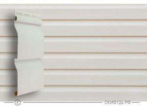 Сайдинг панель Сибирский брус компании Grand Line цвет белый