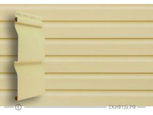 Сайдинг панель Сибирский брус компании Grand Line цвет ванильный