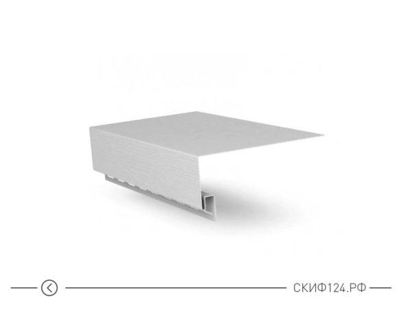 Околооконная планка для сайдинга Гранд Лайн белого цвета