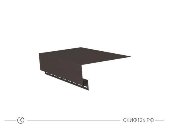 Околооконная планка для сайдинга Гранд Лайн коричневого цвета