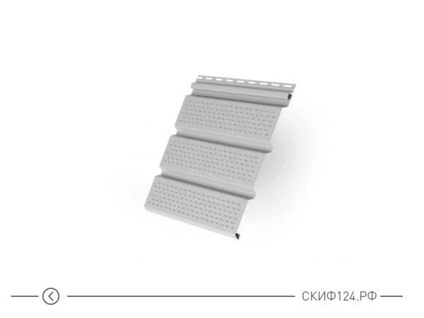 Софит Т4 перфорированный для винилового сайдинга, цвет белый