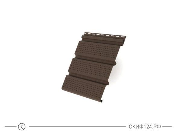 Софит Т4 перфорированный для винилового сайдинга, цвет коричневый