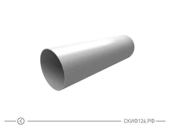 Труба водосточная из ПВХ для водоотведения воды с крыши, цвет белый