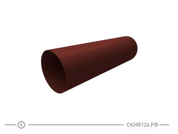 Труба водосточная из ПВХ для водоотведения воды с крыши, цвет шоколадный