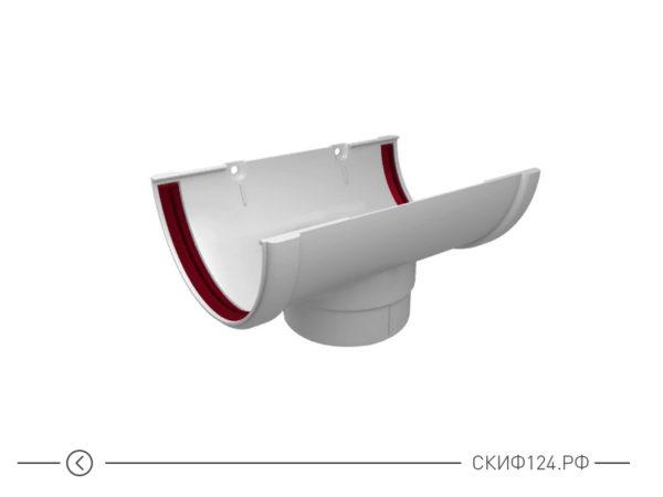 Воронка желоба ПВХ для водостока Grand Line, цвет белый