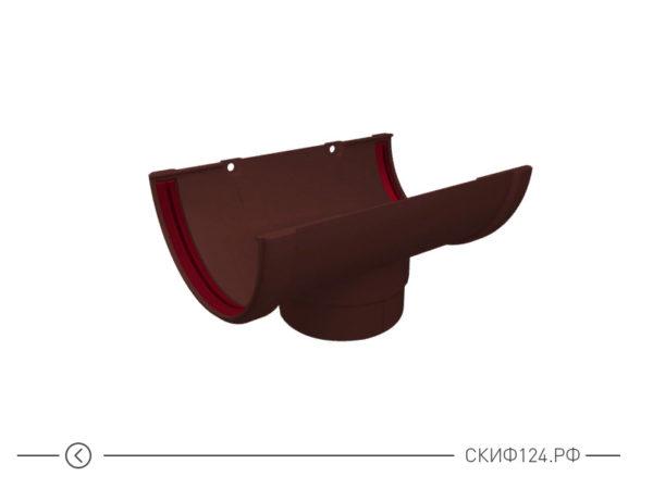 Воронка желоба ПВХ для водостока Grand Line, цвет шоколадный